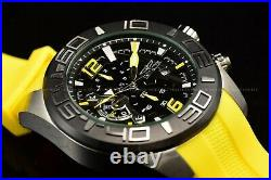Invicta Men's 50mm Pro Diver Black Dial Lemon Yellow Silicone Chronograph Watch