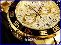 Invicta Men's 50mm Pro Diver Chronograph Silver Dial Gold Tone SS Watch