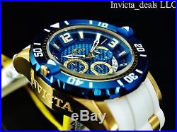 Invicta Men's 50mm Pro Diver Gen III Chrono Deep Dish Blue Dial 18K GP SS Watch