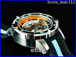 Invicta Men's 50mm S1 Rally AUTOMATIC Skeletonized Dial Black/Blue Tone SS Watch