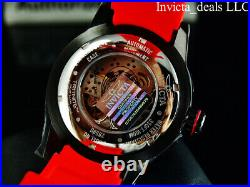 Invicta Men's 50mm S1 Rally AUTOMATIC Skeletonized Dial Red/White Tone SS Watch