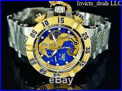 Invicta Men's 50mm SEAHORSE Subaqua Noma III Swiss Chronograph 18KGIP SS Watch