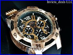 Invicta Men's 50mm SPEEDWAY VIPER Chrono Black Carbon Fiber Dial Rose Tone Watch