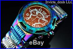 Invicta Men's 50mm Speedway Swiss Chronograph Iridescent Tinted Crystal SS Watch