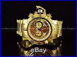 Invicta Men's 50mm Subaqua Noma III Swiss Chronograph 18KGIP SS Bracelet Watch