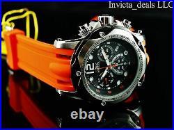 Invicta Men's 51mm SPEEDWAY TURBO SWISS Chronograph Orange Jellyfish SS Watch