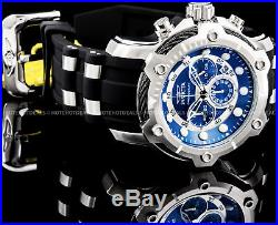 Invicta Men's 51mm Signature Bolt Chronograph Blue Dial Stainless Steel PU Watch