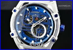 Invicta Men's 52mm Akula Automatic Skeletonized Silver and Blue Bracelet Watch