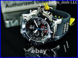 Invicta Men's 52mm BOLT SWISS Chrono BLACK COMPASS DIAL Silver/Black Tone Watch