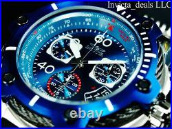Invicta Men's 52mm BOLT SWISS Chrono BLUE COMPASS DIAL Silver/Blue Tone Watch