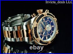 Invicta Men's 52mm BOLT THUNDER Chronograph BLACK Dial Rose Two Tone SS Watch