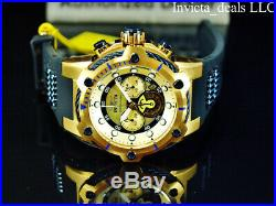 Invicta Men's 52mm Bolt ANCHOR Chronograph Gold Dial Gold & Blue Tone SS Watch