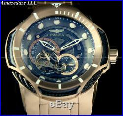 Invicta Men's 52mm Bolt Automatic Multi-Function OPEN HEART ROSE GOLD SS Watch