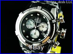 Invicta Men's 52mm Bolt Zeus Swiss Chronograph Black MOP Dial Silver Tone Watch