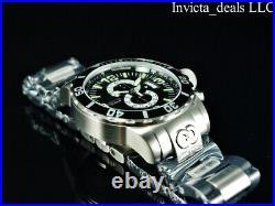 Invicta Men's 52mm CORDUBA IBIZA Chronograph BLACK DIAL Silver/Black Tone Watch