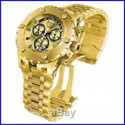 Invicta Men's 52mm Chronograph Gold Plated Stainless Steel Quartz Watch 1568