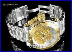 Invicta Men's 52mm Coalition Forces GOLD Dragon AUTOMATIC Silver Bracelet Watch