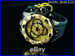 Invicta Men's 52mm Excursion Swiss Chronograph Gold Dial 18K Gold Plated Watch
