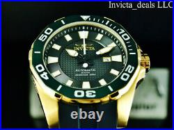 Invicta Men's 52mm GRAND DIVER Automatic LIMITED EDITION BLACK DIAL Gold Watch