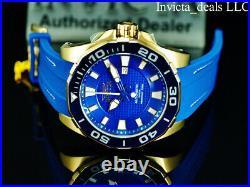 Invicta Men's 52mm GRAND DIVER Automatic SAPPHIRE BLUE Gold Tone Ltd Ed SS Watch