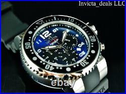Invicta Men's 52mm Grand Pro Diver OCEAN VOYAGE Chrono BLUE DIAL Silver SS Watch