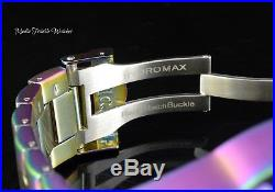 Invicta Men's 52mm Hydromax Quartz BLUE Abalone Dial Iridescent Bracelet Watch