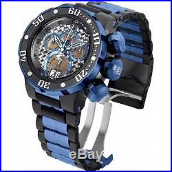 Invicta Men's 52mm Jason Taylor Blue Polyurethane Band Swiss Quartz Watch 22271