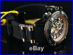 Invicta Men's 52mm Limited Ed. Marvel Bolt Punisher Chronograph Black IP Watch