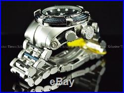 Invicta Men's 52mm Mighty Bolt Zeus 3 Cables Swiss Chronograph Bracelet SS Watch
