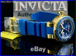 Invicta Men's 52mm Pro Diver OCEAN VOYAGER 18K Gold Plated SS Blue Dial Watch
