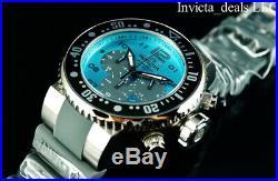 Invicta Men's 52mm Pro Diver Ocean Voyager Chronograph Ocean Blue Dial SS Watch