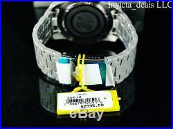 Invicta Men's 52mm Pro Diver Scuba Chronograph SANDBLASTED Silver/Blue SS Watch