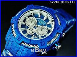 Invicta Men's 52mm Pro Diver Scuba Chronograph Sandblasted Blue Finish SS Watch