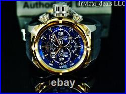 Invicta Men's 52mm RUSSIAN DIVER Chronograph BLUE DIAL Blue/Black Tone SS Watch