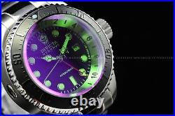 Invicta Men's 52mm Reserve Hydromax Purple Green Tinted GMT 1000M Diver Watch