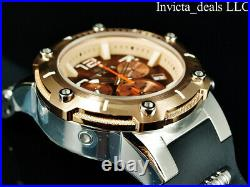 Invicta Men's 52mm SPEEDWAY VIPER TURBO SWISS Chrono BROWN DIAL Rose Tone Watch