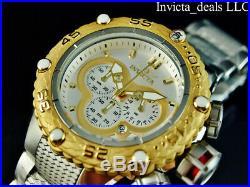Invicta Men's 52mm Subaqua Noma VI Chronograph Silver Dial Gold Tone SS Watch