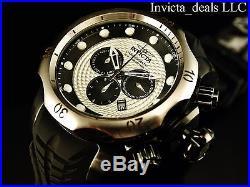 Invicta Men's 52mm VENOM Sea Dragon Swiss Chronograph Silver Twine Dial SS Watch