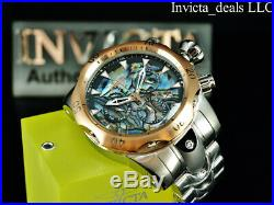 Invicta Men's 52mm VENOM Swiss Z60 Chronograph ABALONE DIAL Silver Tone SS Watch