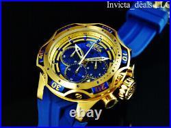 Invicta Men's 52mm Venom Gen III Chrono BLUE DIAL Sapphire Blue/Gold Tone Watch