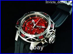 Invicta Men's 52mm Venom Gen III Chrono Bloody Mary RED DIAL Silver Tone Watch