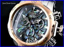 Invicta Men's 52mm Venom Quartz Chronograph Abalone Dial Silver Rose Gold Watch