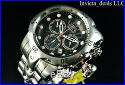 Invicta Men's 52mm Venom Swiss Chronograph Black Dial High Polished Silver Watch