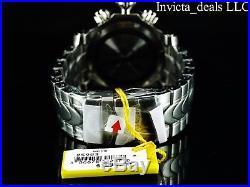 Invicta Men's 52mm Venom Swiss Chronograph Blue Dial Silver Bracelet SS Watch