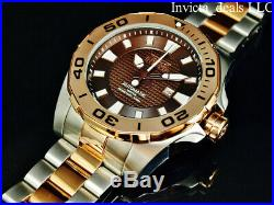 Invicta Men's 53mm GRAND DIVER Automatic LIMITED ED BROWN DIAL Rose 2Tone Watch