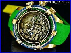 Invicta Men's 54mm Bolt Zeus Tri Cable Koi Fish & Dragon Gold Tone 200M SS Watch