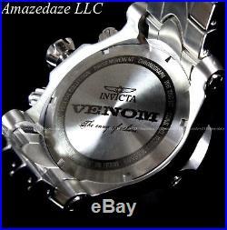 Invicta Men's 54mm Reserve Venom Chrome Chrono Swiss Movt Abalone Dial SS Watch