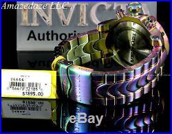 Invicta Men's 54mm Reserve Venom Iridescent Swiss Chronograph Black MOP SS Watch