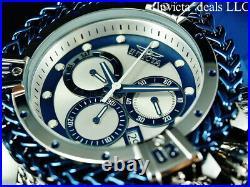 Invicta Men's 56mm BOLT HERCULES Swiss Chronograph Blue & Silver Tone SS Watch