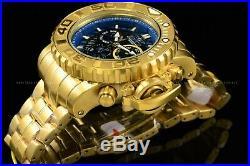 Invicta Men's 70mm Full Sea Hunter Blue Dial Swiss Chrono 18K Gold Plated Watch